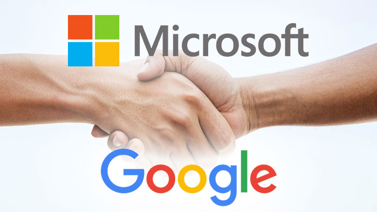 Microsoft and Google finally friendly to each other