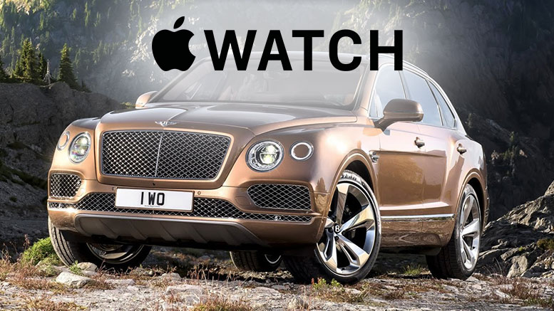 Control your Bentley Bentayga with Apple Watch