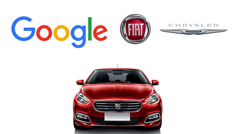 Google and Fiat Chrysler are working together to create a self-driving car