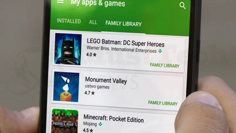 Enjoy Google Play Family Library for apps with Google, movies, and TV