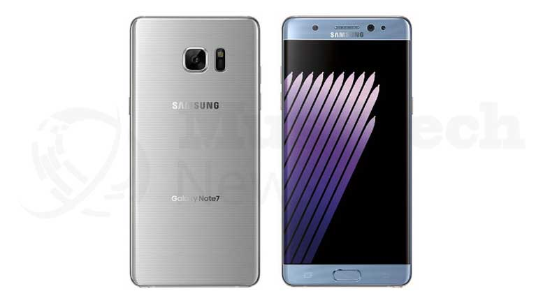 Blue Coral And Silver Color Galaxy Note 7 Delivery Is Delayed In US