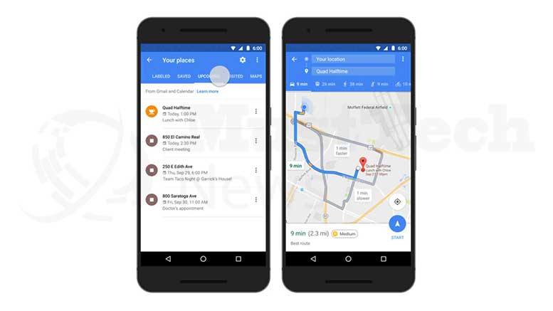 Google Maps Integrates Forthcoming Events from Google Calendar