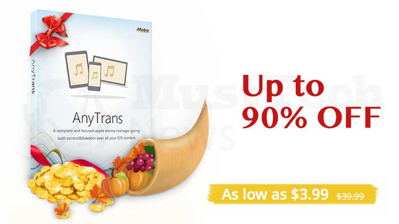 Thanksgiving Deals with AnyTrans, Best iPhone Manager
