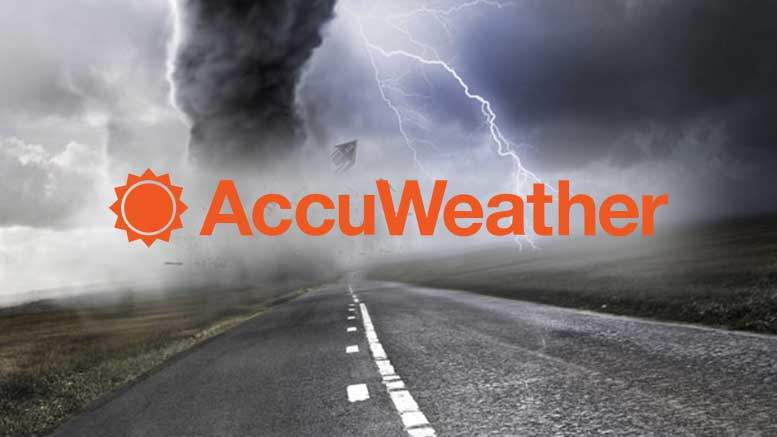 AccuWeather, a VR weather app with a Dystopian Design
