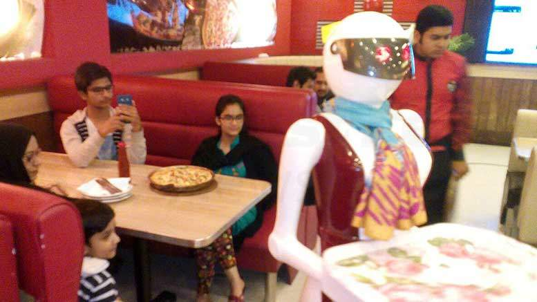 Attention-Grabbing Robot Waitress in Pakistan Has Gone Viral on Social Media Nationally and Internationally