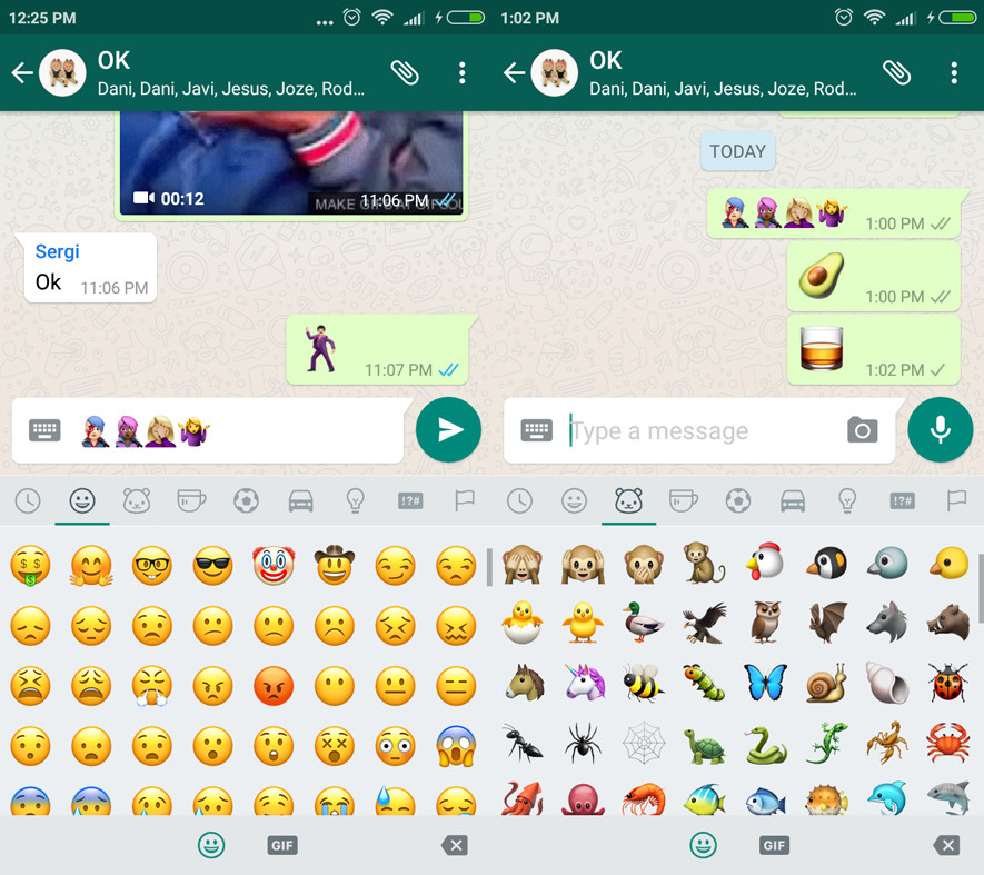 WhatsApp updated on Android with New emojis