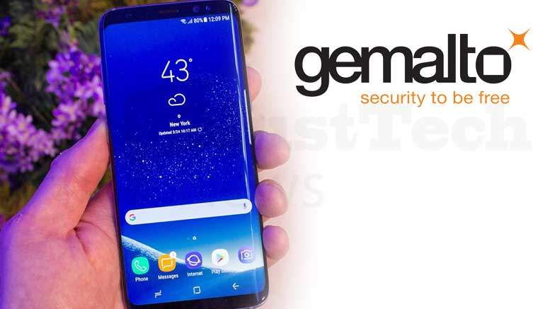 Gemalto's secure smart chip to be integrated in the Samsung Galaxy S8 in selected markets