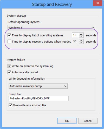 Reduce the Boot Menu Time-Out