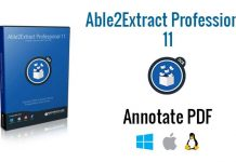 Able2Extract Professional 11: Annotate PDF on Any Operating System
