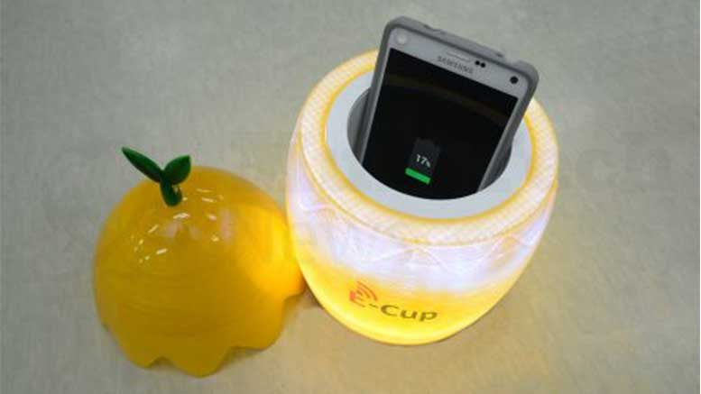 ETRI's Cup Holder Charges Phones Wirelessly