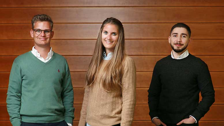 Left to right are Patrick Renner, Susanne Mitschke and Rogelio Arellano of MindMate (by Stewart Attwood)
