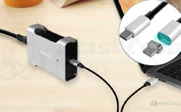 Macally's Aluminum USB-C Charger61, Ideal Power Adapter for MacBooks