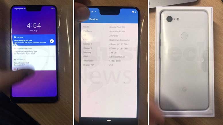 Google Pixel 3 XL To Have A Big Honkin Notch - A Recent Leak Suggest