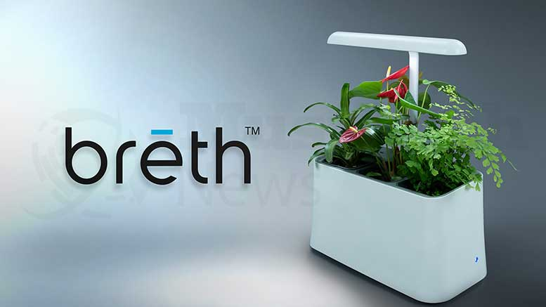 Greenstreet Growers Inc. Launches Plant-Based Air Purifier, brēth, in New Kickstarter Campaign